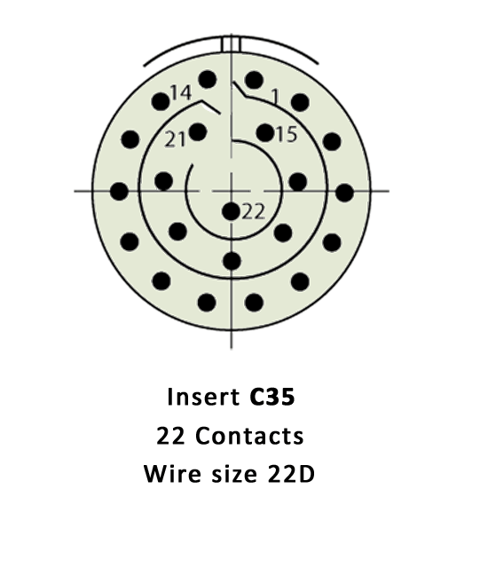 D38999/20FC35SD Insert Drawing