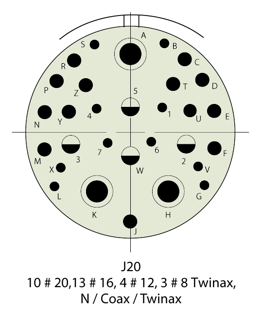 D38999/24WJ20SN Insert Drawing