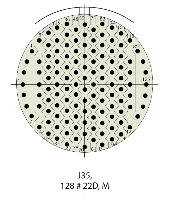 D38999/24WJ35PN Insert Drawing